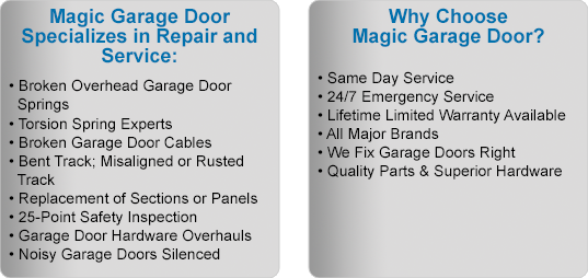 Magic Garage Door Benefits